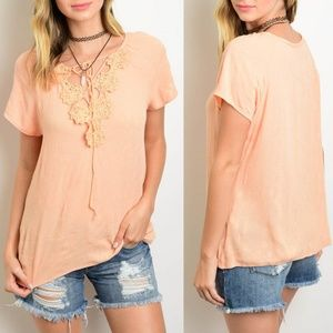 Peach Crochet Top {Yoyo 5}